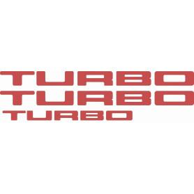 Kit autocollant R5 Turbo 1 portes et hayon rouge