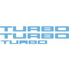 Kit autocollant R5 Turbo 1 portes et hayon bleu