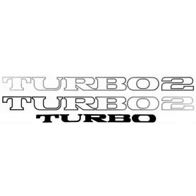 Kit autocollant R5 Turbo 2 portes et hayon gris foncé