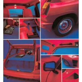 kit velours bleu R5 turbo