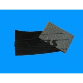 Tissus noir double épaisseur