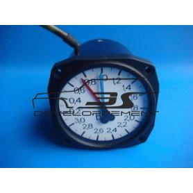 Manomètre de pression et dépression de turbo - 2 aiguilles - diam 80mm