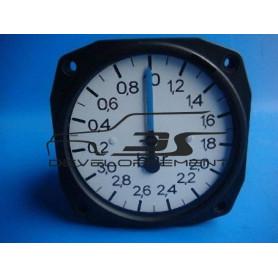 Véritable Manomètre de pression de turbo d'usine d'époque (1 aiguille)