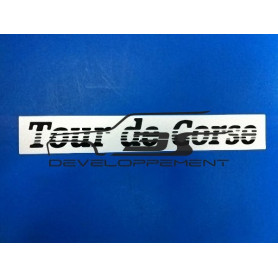 Monogramme sérigraphié TOUR DE CORSE