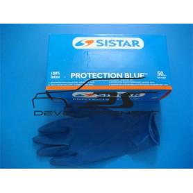 Gants latex bleus spécial hydrocarbureBoite de 50