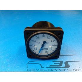 Véritable manomètre de pression de turbo d'usine d'époque, aviation diam 57mm
